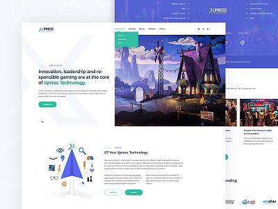 XPRESS Technology | web design responsive interface clean experience website design web minimal ui ux