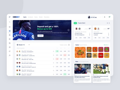 Core Bet | Sportsbook Design uxdesign minimal website sportsbook betting bet experience interface clean ux ui