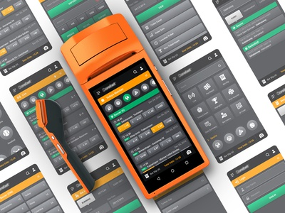 Pos device screen design for bet systems!