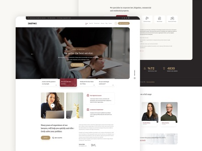 """""""Justmix"""" home page design. attorneys justice lawyer lawfirm interface experience minimal design website clean ux ui"""