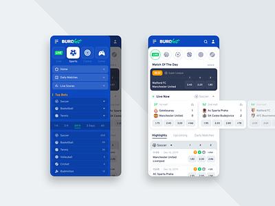 Burobet | Sportsbook Mobile App Design clean mobile ui sportsbook mobile design mobile app mobile betting bet interface experience ux ui