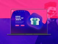 Adidas World Cup Jerseys Landing Page - Daily UI #03
