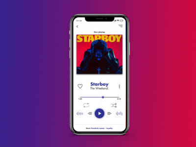 Music Player | Starboy The Weeknd | iPhone X