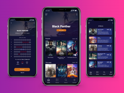 Movie Theater Application | Booking | Black Panther