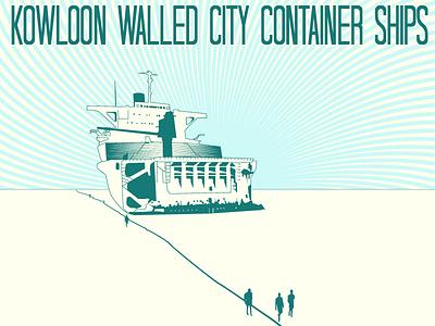Container Ship Letter Press Comp letterpress album art