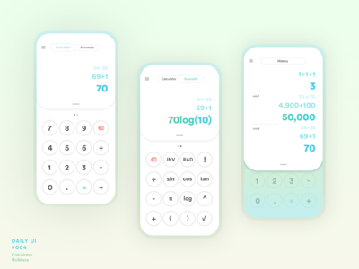 Calculator Concept | Daily UI #004