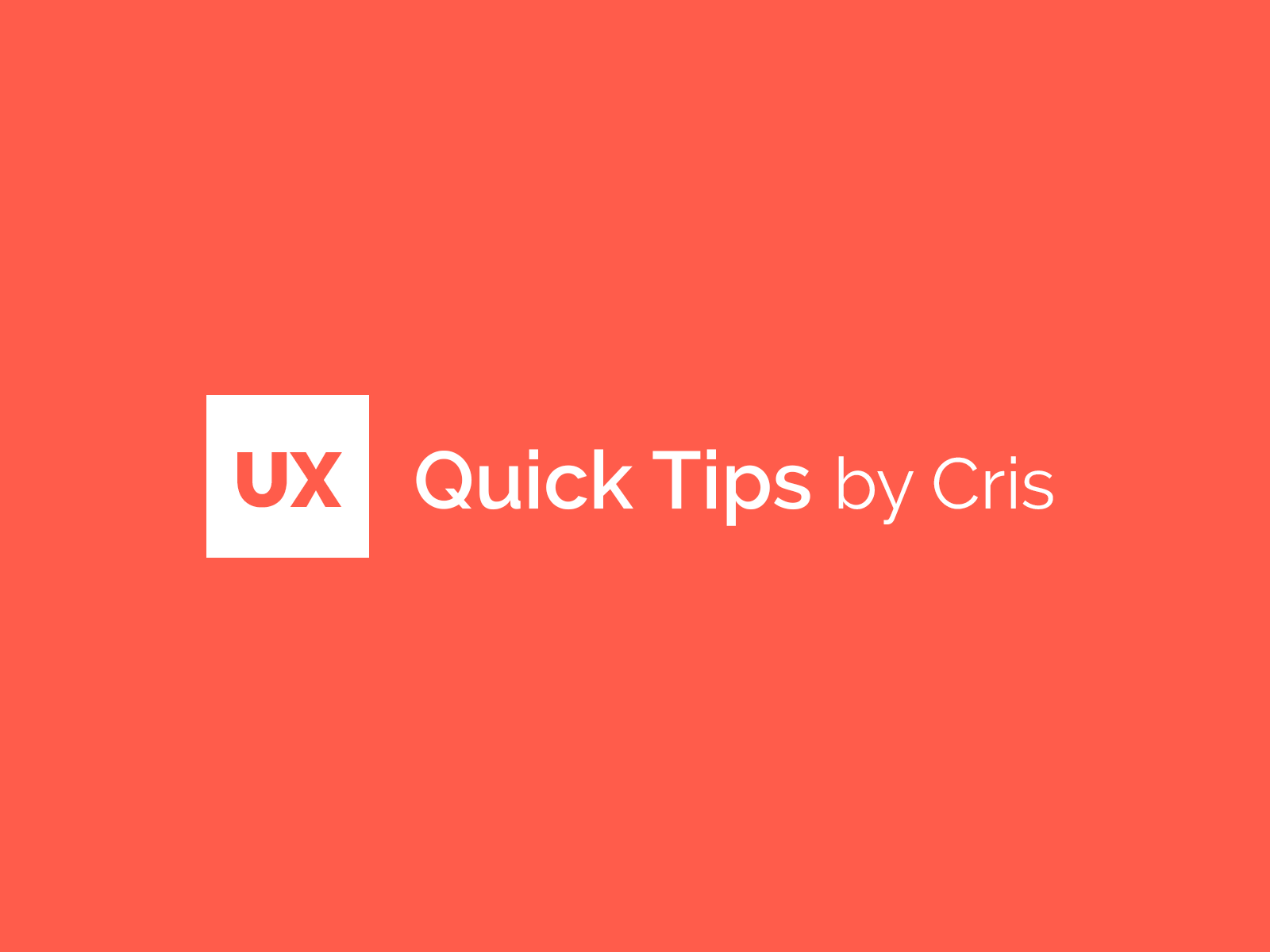 Ux Ui Quick Tips Vol 02 By Cristian Llanez On Dribbble