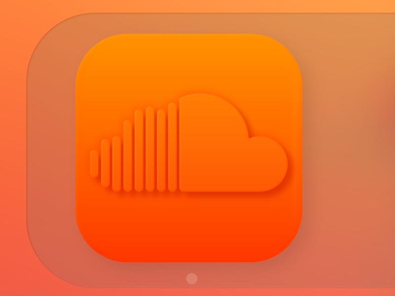 Soundcloud Icon MacOS Big Sur logo soft ui big sur 3d neumorphism soundcloud icon concept ui affinity designer