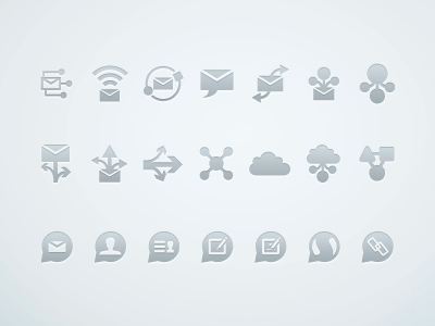 Random Icons - Free Download download free icons share cloud envelope email speech