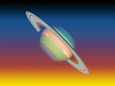 Saturn gradient nasa space saturn