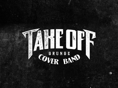Takeoff black toogii rock and roll music typography logo logotype band logo lettering grunge rock band