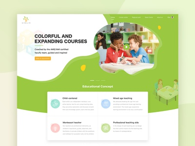 Early childhood education official website illustration ps ai 设计 ui
