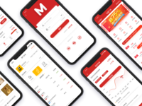 The iphone x page Financial management interface