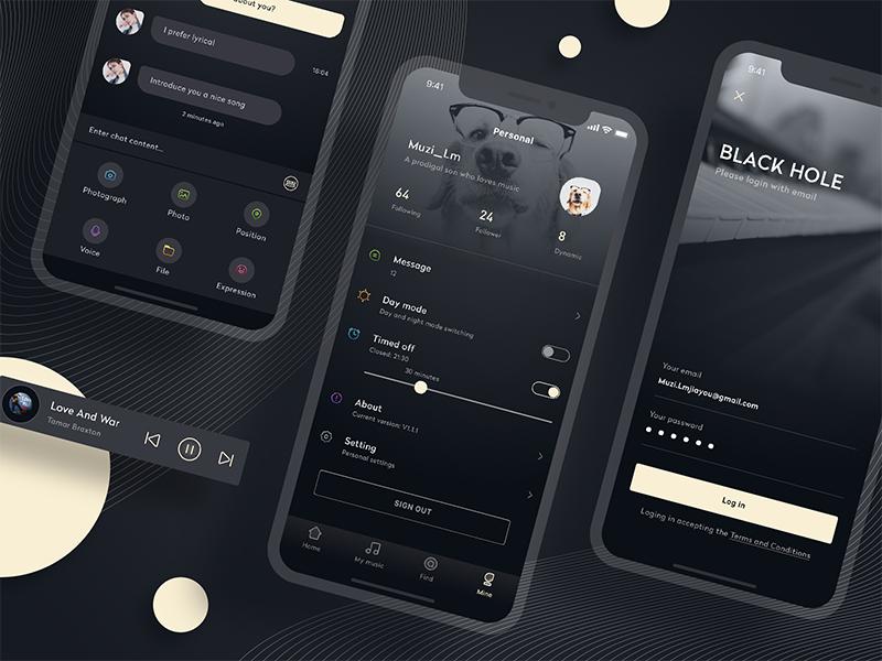 A music app design (below) icon design app,ui