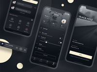 A music app design (below)