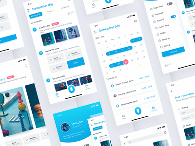 One daily app interface design