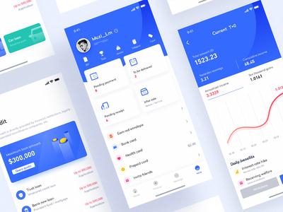 Wallet app interface design - 2