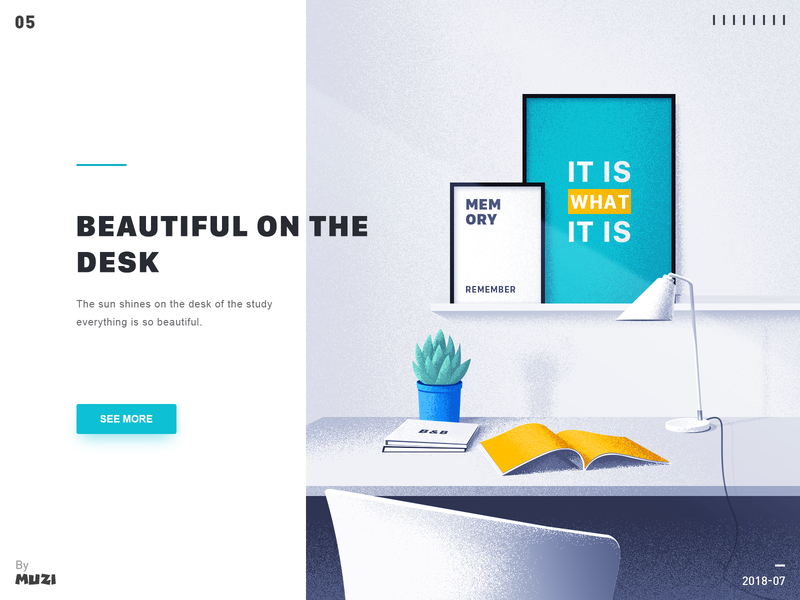 Beautiful on the desk design illustration