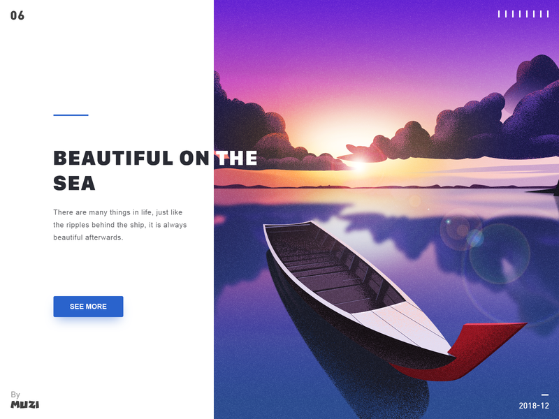Beautiful on the sea design illustration