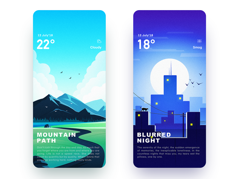 Weather Illustrator Interface 2.0 Part 2 icon,ui ui,app illustration app,ui design