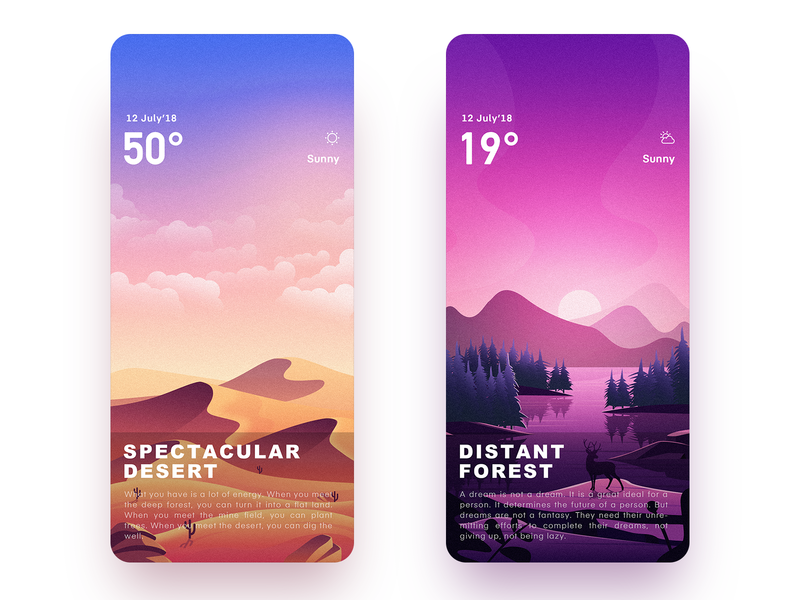 Weather Illustrator Interface 2.0 Part 3 ui,app illustration app,ui design icon,ui
