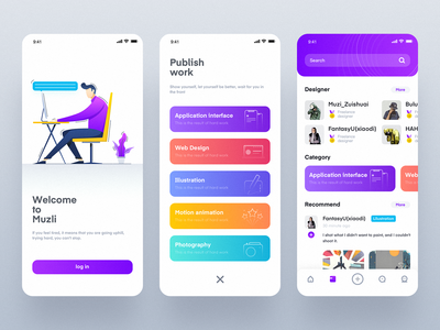 A work management and design communication platform app Part2