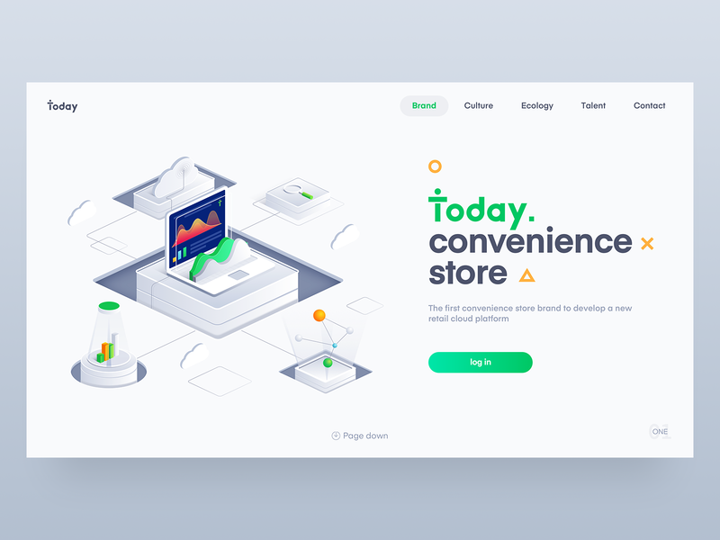 Today convenience store background login interface ux design illustration icon,ui