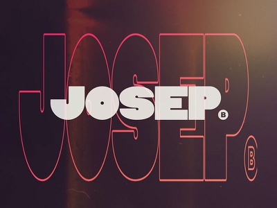 New Logo - Josep tipography branding motiongraphics logo design