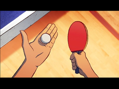 Ping Pong Point motiongraphics after effects character design table tennis ping pong pingong motion flash 2d animation 2d animation
