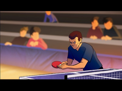 Ping Pong Point fx sakuga manga table tennis ping pong pingpong illustration 2d flash 2d animation animation