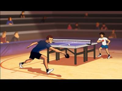 Ping Pong Point 2d fx fx ping pong table tennis illustration motiongraphics 2d 2d animation flash animation