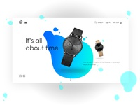 Time Online shopping landing page