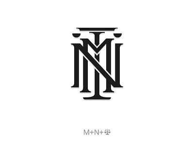 MN Law monogram graphic design branding logotype brand mark logos logo design types letters minimal graphic law lawyer monogram