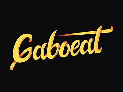Gaboeat lettering logo lettermark typetopia lettering letters artwork logos logotype mark branding logo vector design
