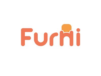 Furni illustrator logotype mark letters vector design sale brand store typegraphic type minimal logo furni