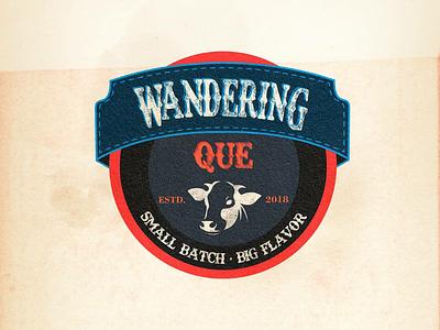 Wandering Que illustrator vector logo process corporate logo logogram logoclub graphic design design beef logos logo