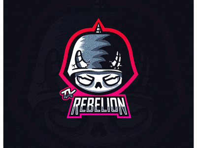 Tx Rebelion esports cartoon illustration illustrator vector design graphic logo mascot logo