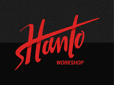 Hanto - lettering cool workshop illustrator vector design graphic letters typegang logoramia typetopia lettering typography type logo