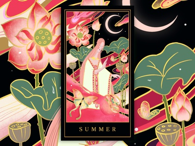 Four season cards-summer