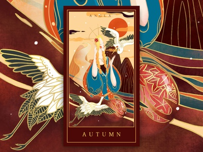 Four season cards-autumn