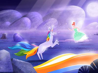 Recent portfolio update-Unicorn character design 2d design pictodesignstudio branding motiongraphics animation graphics 2danimation illustration