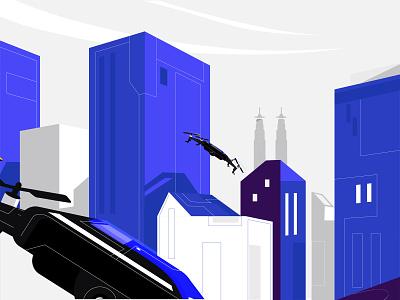 Drone graphics drone pictodeignstudio character illustration ui vector 2danimation