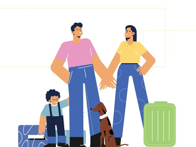 Family Trip pictodeignstudio vectorart vector graphicartist graphicroozane graphicdesignblg graphicdesign graphic illustrationart illustration designstudio designart designinspiration designing design dribbbles dribbbleshot dribbbler dribbble
