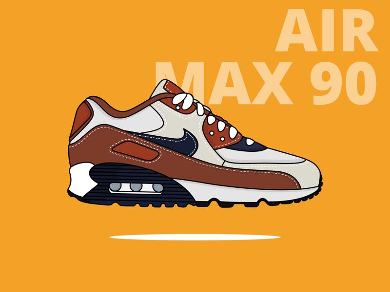Nike Air Max 90 By Yogesh Sharma On Dribbble