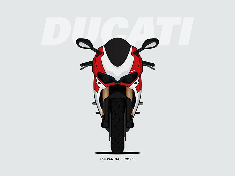 Ducati 959 Panigale Corse By Yogesh Sharma Dribbble Dribbble