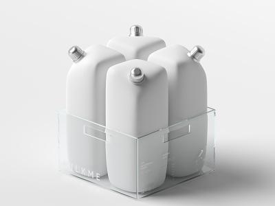 MILKME packagedesign minimal 3d