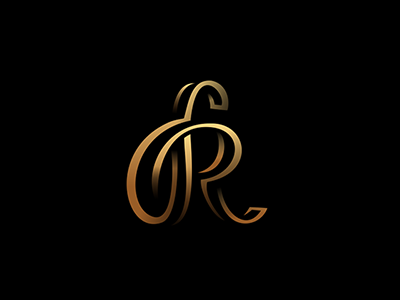 R logo black vector branding monogram
