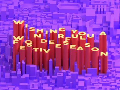 Festive artareaby typography design branding minimal artarea 3d 3-color