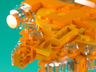 YT-1300F lego minimal artarea 3d 3-color