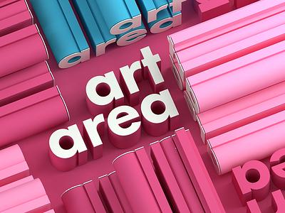 #artarea design artarea typography minimal 3d 3-color